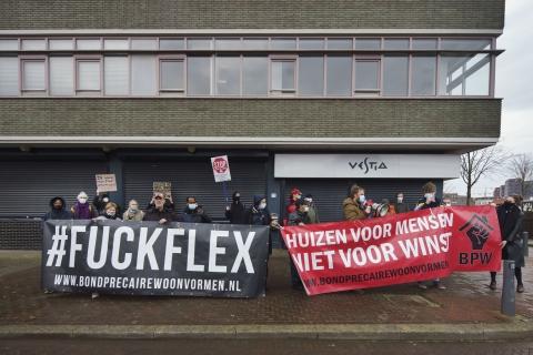 #fuckflex demonstratie tweebosbuurt