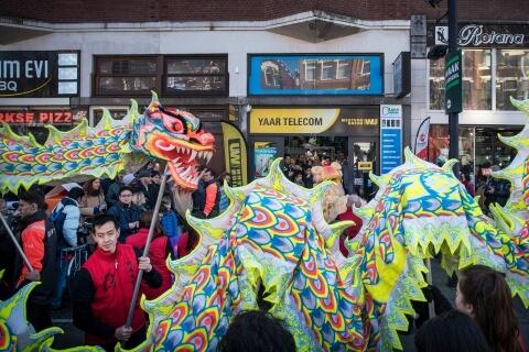 Chinees nieuw jaar, west-kruiskade