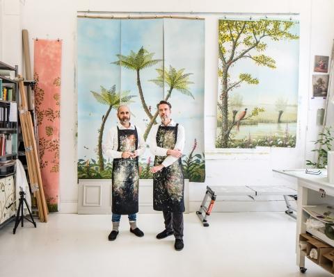 Kunstenaars en hun atelier